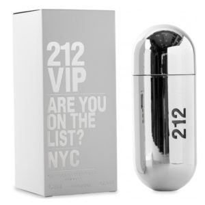 Carolina Herrera 212 VIP Silver for Women, 80 ml